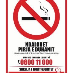 Raporto shkeljet e Ligjit për Kontrollin e Duhanit në numrin 0800 11 000
