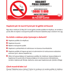 Udhëzuesi për zbatimin e Ligjit për kontrollin e duhanit