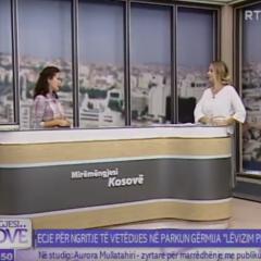 """Njoftim për fillimin e fushatës """"Lëvizim për Shëndet"""" në RTK"""